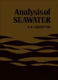 Analysis of Seawater - 1st Edition - ISBN: 9780407016101, 9780323150644