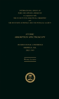 Atomic Absorption Spectroscopy - 1st Edition - ISBN: 9780408701198, 9781483154916