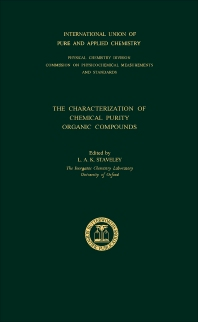 The Characterization of Chemical Purity - 1st Edition - ISBN: 9780408701457, 9781483279992