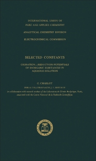 Selected Constants - 1st Edition - ISBN: 9780408701778, 9781483280103