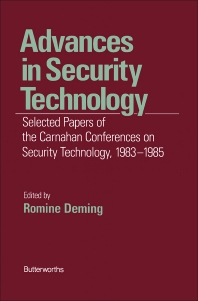 Advances in Security Technology - 1st Edition - ISBN: 9780409900521, 9781483102207
