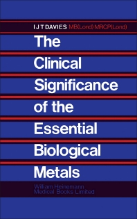 Cover image for The Clinical Significance of the Essential Biological Metals