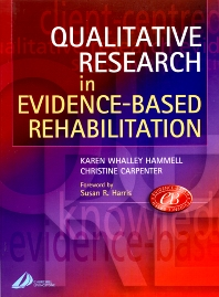 Cover image for Qualitative Research in Evidence-Based Rehabilitation