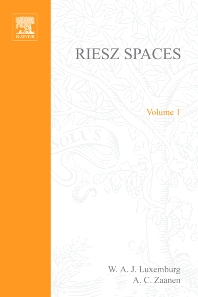 Riesz Spaces - 1st Edition - ISBN: 9780444101297, 9780080951836