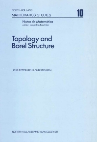 Topology and Borel Structure - 1st Edition - ISBN: 9780444106087, 9780080871219