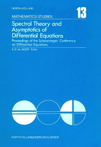 Spectral Theory and Asymptotics of Differential Equations - 1st Edition - ISBN: 9780444106414, 9780080871240