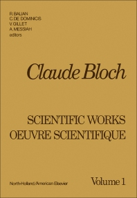 Claude Bloch - 1st Edition - ISBN: 9780444107428, 9780444601148