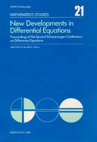 New Developments in Differential Equations - 1st Edition - ISBN: 9780444111074, 9780080871325