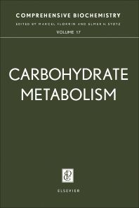 Carbohydrate Metabolism - 1st Edition - ISBN: 9780444406958, 9781483162706