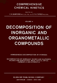Cover image for Decomposition of Inorganic and Organometallic Compounds