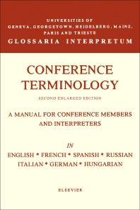 Cover image for Conference Terminology
