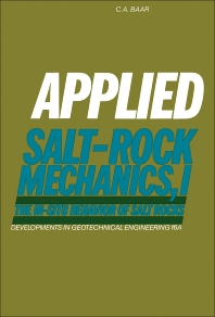 Applied Salt-Rock Mechanics 1 - 1st Edition - ISBN: 9780444415004, 9780444601650