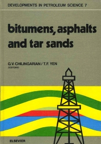 Bitumens, asphalts, and tar sands - 1st Edition - ISBN: 9780444416193, 9780080868615