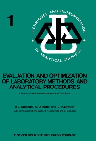 Cover image for Evaluation and Optimization of Laboratory Methods and Analytical Procedures
