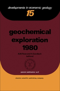 Cover image for Geochemical Exploration 1980