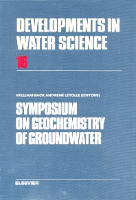 Cover image for Symposium on Geochemistry of Groundwater