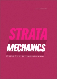 Strata Mechanics - 1st Edition - ISBN: 9780444420862, 9780444598028