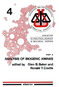 EVAL ANAL METH BIOL SYSTEMS PART A - 1st Edition - ISBN: 9780444421104, 9780080875514