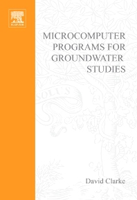 Cover image for Microcomputer Programs for Groundwater Studies