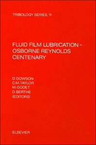 Cover image for Fluid Film Lubrication - Osborne Reynolds Centenary