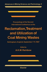 Cover image for Reclamation, Treatment and Utilization of Coal Mining Wastes