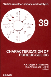 Cover image for Characterization of Porous Solids