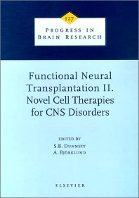 Cover image for Functional Neural Transplantation II. Novel Cell Therapies for CNS Disorders
