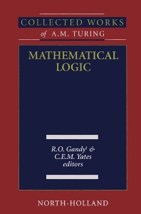 Mathematical Logic - 1st Edition - ISBN: 9780444504234, 9780080535920