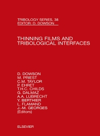 Cover image for Thinning Films and Tribological Interfaces
