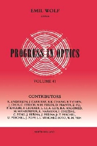 Progress in Optics Volume 41, 1st Edition,ISBN9780444505682