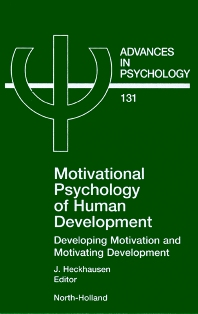 Cover image for Motivational Psychology of Human Development