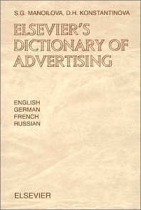 Cover image for Elsevier's Dictionary of Advertising