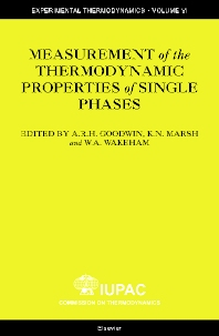 Measurement of the Thermodynamic Properties of Single Phases, 1st Edition,Anthony Goodwin,KN Marsh,WA Wakeham,ISBN9780444509314