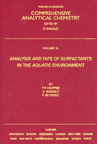 Cover image for Analysis and Fate of Surfactants in the Aquatic Environment