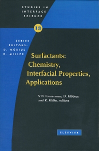 Cover image for Surfactants: Chemistry, Interfacial Properties, Applications