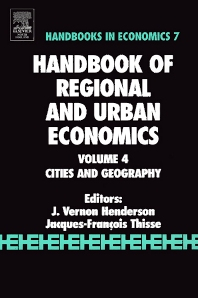 Handbook of Regional and Urban Economics, 1st Edition,V. Henderson,J.F. Thisse,ISBN9780444509673