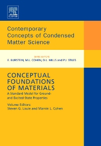 Conceptual Foundations of Materials, 1st Edition,Steven Louie,Marvin Cohen,ISBN9780444509765