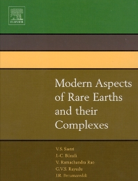 Modern Aspects of Rare Earths and their Complexes, 1st Edition,Vinny R. Sastri,J.R. Perumareddi,V. Ramachandra Rao,G.V.S. Rayudu,J.-C. Bünzli,ISBN9780444510105