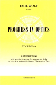 Progress in Optics Volume 43, 1st Edition,UNKNOWN AUTHOR,ISBN9780444510228