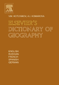 Cover image for Elsevier's Dictionary of Geography