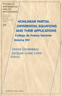 Cover image for Nonlinear Partial Differential Equations and Their Applications