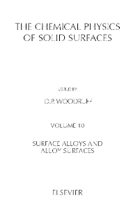 Cover image for Surface Alloys and Alloy Surfaces