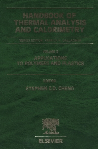 Handbook of Thermal Analysis and Calorimetry, 1st Edition,Stephen Cheng,ISBN9780444512864