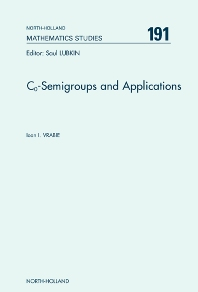 Co-Semigroups and Applications, 1st Edition,Ioan I. Vrabie,ISBN9780444512888