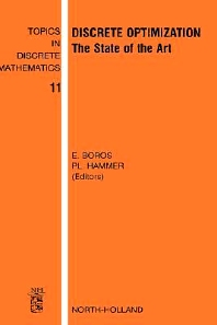 Discrete Optimization, 1st Edition,E. Boros,P.L. Hammer,ISBN9780444512956