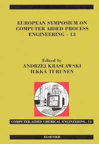 Cover image for European Symposium on Computer Aided Process Engineering - 13