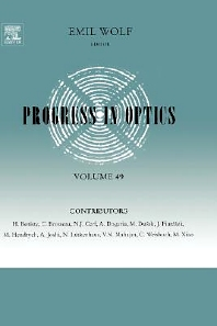 Progress in Optics, 1st Edition,Emil Wolf,ISBN9780444514684