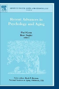Recent Advances in Psychology and Aging, 1st Edition,P. Costa,I.C. Siegler,ISBN9780444514950