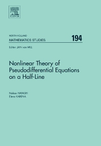 Cover image for Nonlinear Theory of Pseudodifferential Equations on a Half-line