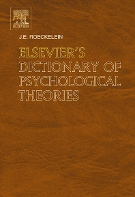 Elsevier's Dictionary of Psychological Theories - 1st Edition - ISBN: 9780444517500, 9780080460642